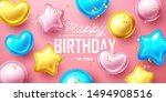 happy birthday background with... | Shutterstock .eps vector #1494908516