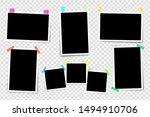 set of square photo frames on... | Shutterstock .eps vector #1494910706