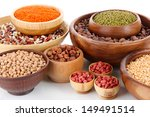 different kinds of beans in... | Shutterstock . vector #149491514