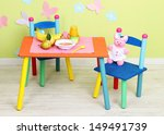 tasty baby fruit puree and baby ... | Shutterstock . vector #149491739