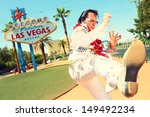 elvis look alike impersonator...   Shutterstock . vector #149492234