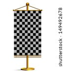 checkered flag vector  | Shutterstock .eps vector #149492678