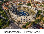 roman time arena in pula