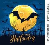 Lettering Happy Halloween On...