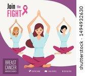 healthy's women in the yoga... | Shutterstock .eps vector #1494932630