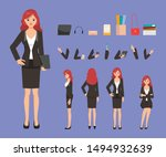 business woman character... | Shutterstock .eps vector #1494932639