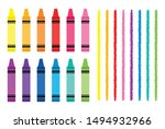 crayon and divider clip art set ... | Shutterstock .eps vector #1494932966