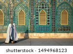 The blue mosque in mazar i...
