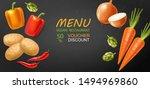 vegetables vector realistic.... | Shutterstock .eps vector #1494969860