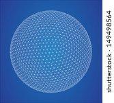 wireframe spheres  | Shutterstock .eps vector #149498564