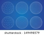 wireframe spheres  | Shutterstock .eps vector #149498579