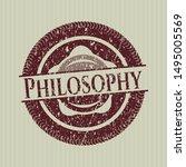 red philosophy distress grunge...   Shutterstock .eps vector #1495005569
