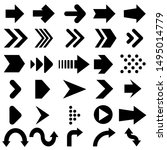 arrow vector icons set. arrow... | Shutterstock .eps vector #1495014779
