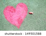 A Pink Heart Symbol Is Drawn O...