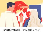 couple therapy concept flat... | Shutterstock .eps vector #1495017710