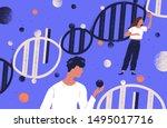 researchers holding dna... | Shutterstock .eps vector #1495017716