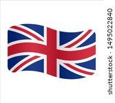 united kingdom  flag logo.... | Shutterstock .eps vector #1495022840