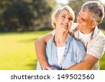 cute middle aged couple... | Shutterstock . vector #149502560