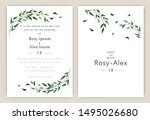 wedding invitations save the... | Shutterstock .eps vector #1495026680