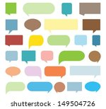 speech bubble collection | Shutterstock .eps vector #149504726