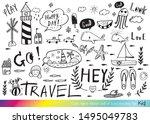 vector illustration of doodle...   Shutterstock .eps vector #1495049783
