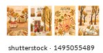 autumn mood hand drawn poster... | Shutterstock .eps vector #1495055489