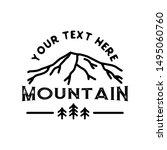 monoline outdoor badge logo...   Shutterstock .eps vector #1495060760