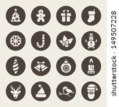 christmas icons | Shutterstock .eps vector #149507228