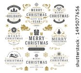 christmas and happy new year... | Shutterstock .eps vector #1495077656