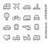 transportation symbol line icon ... | Shutterstock .eps vector #149508149