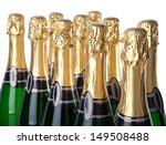 sparkling wine bottles on a... | Shutterstock . vector #149508488