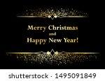 christmas glitter sparkles ... | Shutterstock .eps vector #1495091849