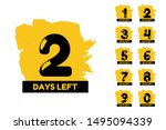 days left banners. promotion... | Shutterstock .eps vector #1495094339