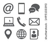 contact icons on white... | Shutterstock . vector #1495103393