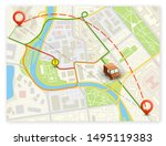 city map navigation banner ...   Shutterstock .eps vector #1495119383
