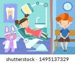 cartoon illustration of two... | Shutterstock .eps vector #1495137329