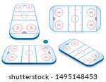 hockey field vector... | Shutterstock .eps vector #1495148453