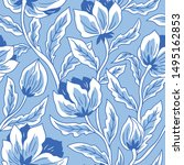 floral seamless pattern for... | Shutterstock .eps vector #1495162853