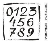 numbers sketch brush...   Shutterstock .eps vector #1495162883