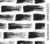 brush strokes seamless pattern... | Shutterstock .eps vector #1495163273