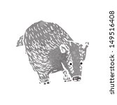 retro cartoon badger | Shutterstock . vector #149516408