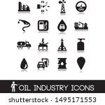 oil industry icons. set vectors.... | Shutterstock .eps vector #1495171553
