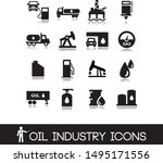 oil industry icons. set vectors.... | Shutterstock .eps vector #1495171556
