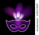 mask with feathers | Shutterstock .eps vector #149517839