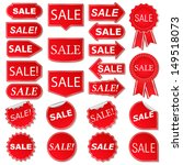 set of red sale stickers ... | Shutterstock .eps vector #149518073