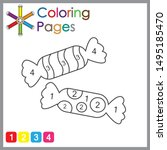 coloring page for kids  color... | Shutterstock .eps vector #1495185470