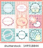 cute baby patterns frames and... | Shutterstock .eps vector #149518844