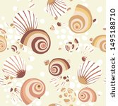 vector seamless pattern with... | Shutterstock .eps vector #1495188710