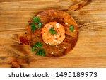 raw salmon tartare  trout... | Shutterstock . vector #1495189973