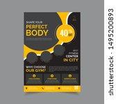 vector layout design template... | Shutterstock .eps vector #1495200893